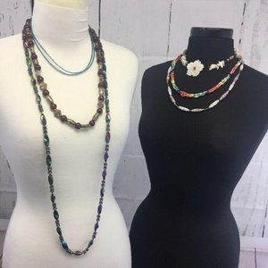 Jewelry - LOT 6 Beaded Necklaces